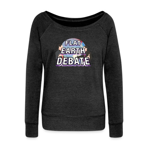 Flat Earth Debate Solid - Women's Boat Neck Long Sleeve Top