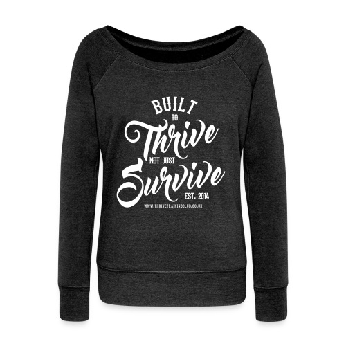 built to thrive final (2) - Women's Boat Neck Long Sleeve Top