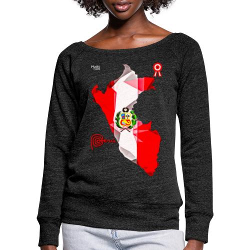 Mapa del Peru, Bandera y Escarapela - Women's Boat Neck Long Sleeve Top