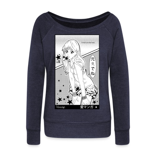 I wish you the best - Women's Boat Neck Long Sleeve Top