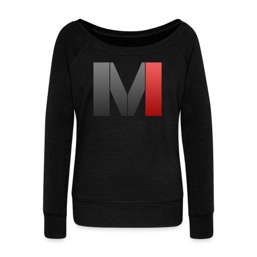 MrGank LOGO - Women's Boat Neck Long Sleeve Top