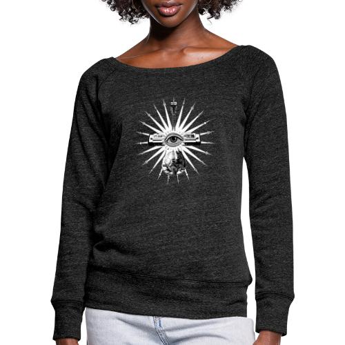 Blues Is The Truth - white star - Women's Boat Neck Long Sleeve Top