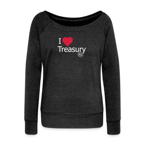 I LOVE TREASURY - Women's Boat Neck Long Sleeve Top
