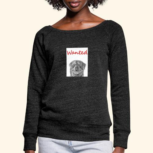 WANTED Rottweiler - Women's Boat Neck Long Sleeve Top