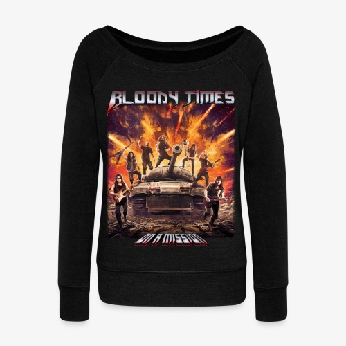 Bloody Times - On A Mission - Women's Boat Neck Long Sleeve Top