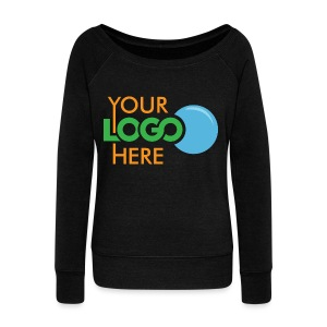 Your Logo Here - Women's Boat Neck Long Sleeve Top
