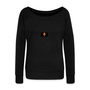 Scorched Logo - Women's Boat Neck Long Sleeve Top