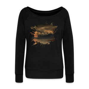 Women's shirt Splatter - Women's Boat Neck Long Sleeve Top