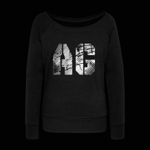 AG logo - Women's Boat Neck Long Sleeve Top