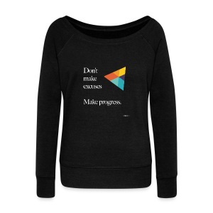 Dont Make Excuses T Shirt - Women's Boat Neck Long Sleeve Top