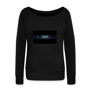 LOGO_Banner_Childs - Women's Boat Neck Long Sleeve Top