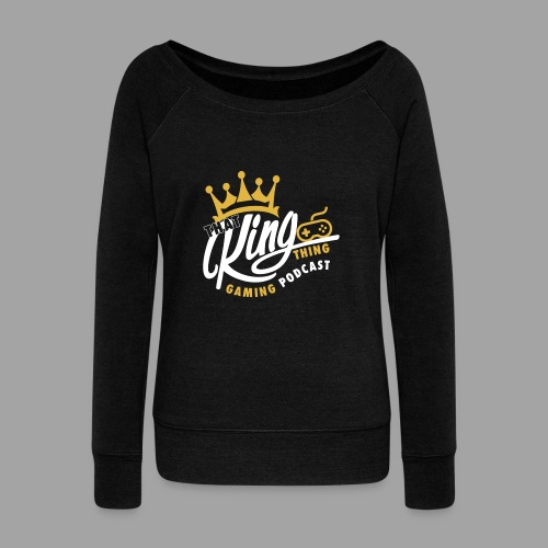 That King Thing Logo - Women's Boat Neck Long Sleeve Top