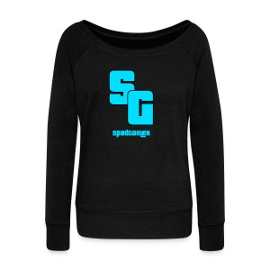 SpudGamer Logo - Women's Boat Neck Long Sleeve Top