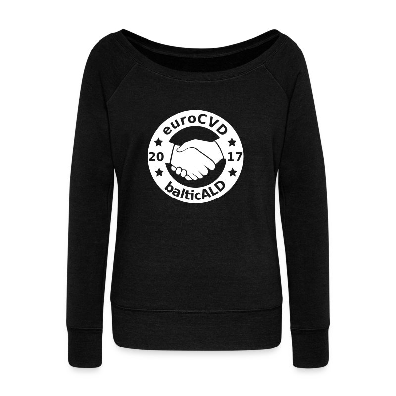 Joint EuroCVD - BalticALD conference mens t-shirt - Women's Boat Neck Long Sleeve Top