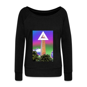 SIXTH DIEMENSION MONUMENT - Women's Boat Neck Long Sleeve Top