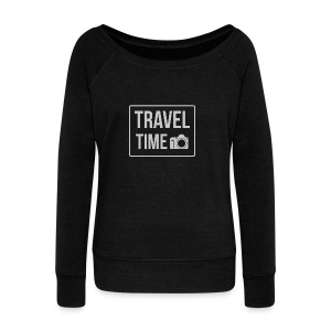 Travel time - Women's Boat Neck Long Sleeve Top