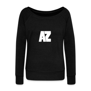 Androklez White Text - Women's Boat Neck Long Sleeve Top
