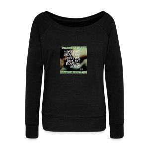 love your body - Women's Boat Neck Long Sleeve Top