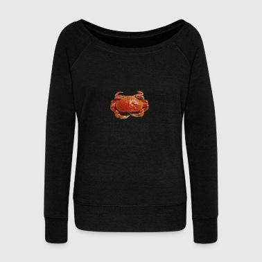 Red crab - Women's Boat Neck Long Sleeve Top