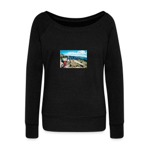 mtb hoddie - Women's Boat Neck Long Sleeve Top