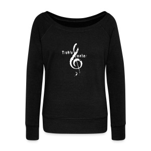 treble_maker-white - Women's Boat Neck Long Sleeve Top