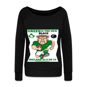 GREEN IS THE NEW BLACK !! - Women's Boat Neck Long Sleeve Top