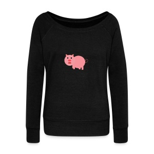 Pig Mad - Women's Boat Neck Long Sleeve Top
