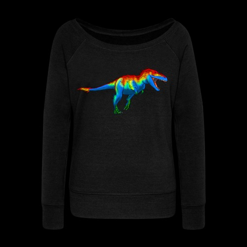 T-Rex - Women's Boat Neck Long Sleeve Top