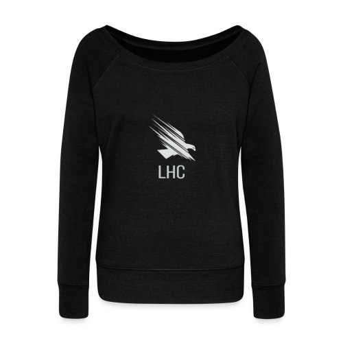 LHC Light logo - Women's Boat Neck Long Sleeve Top