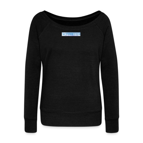 Maxus Irie logo - Women's Boat Neck Long Sleeve Top