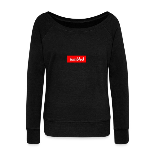 Tumbled Official - Women's Boat Neck Long Sleeve Top