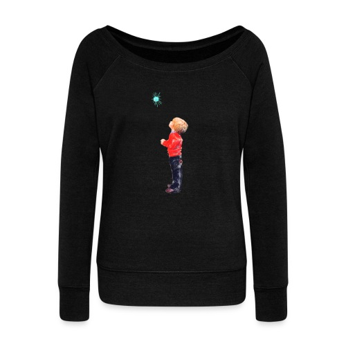 The Boy and the Blue - Women's Boat Neck Long Sleeve Top