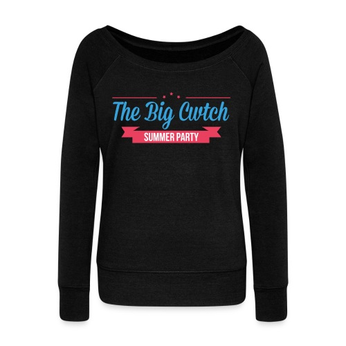 BigCwtchLogoNoBackgroundW - Women's Boat Neck Long Sleeve Top