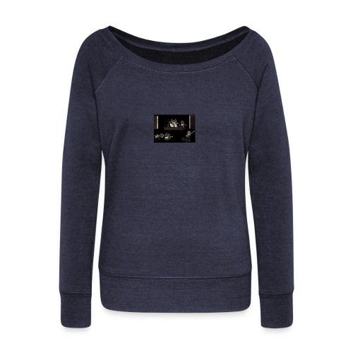 Rock_Stars_on_Stage_NEW - Women's Boat Neck Long Sleeve Top