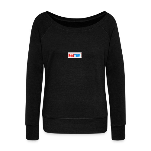 RedRed TDMBlue - Women's Boat Neck Long Sleeve Top