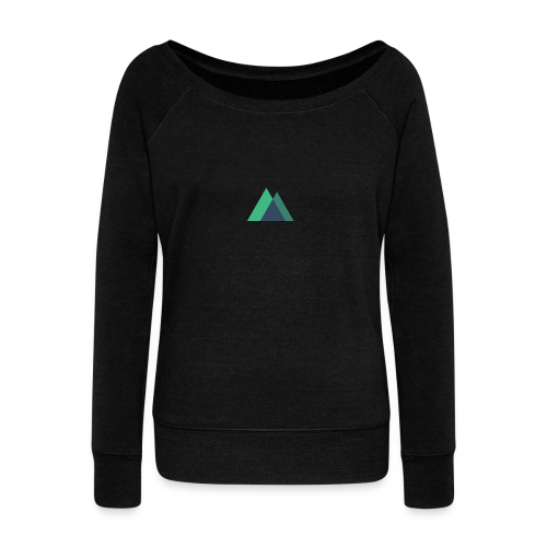 Mountain Logo - Women's Boat Neck Long Sleeve Top