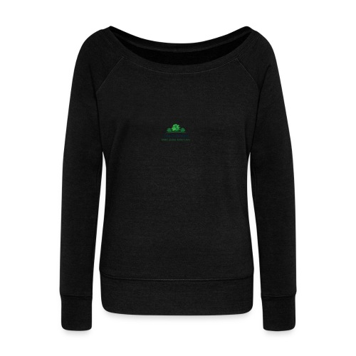 TOS logo shirt - Women's Boat Neck Long Sleeve Top