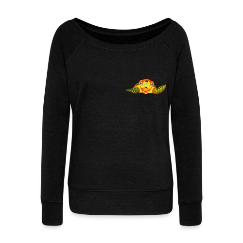 Angry Turtle Fluo - Pull Femme col bateau de Bella