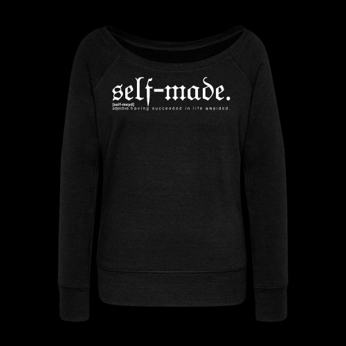 SELF-MADE BW - Women's Boat Neck Long Sleeve Top