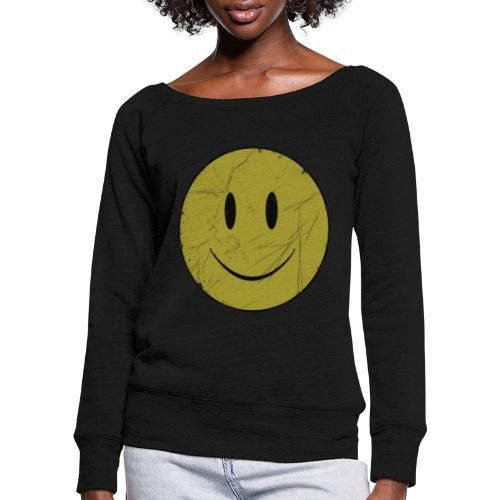 happy face - Women's Boat Neck Long Sleeve Top