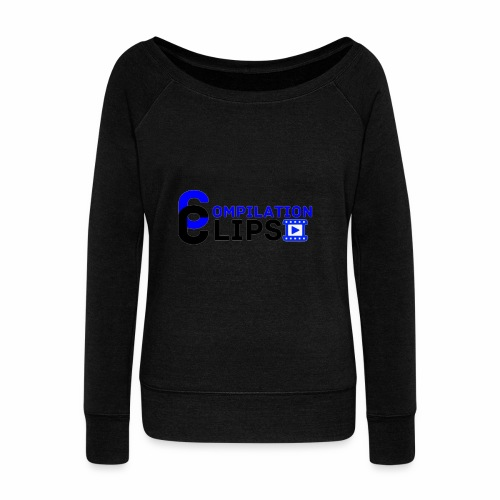 Official CompilationClips - Women's Boat Neck Long Sleeve Top