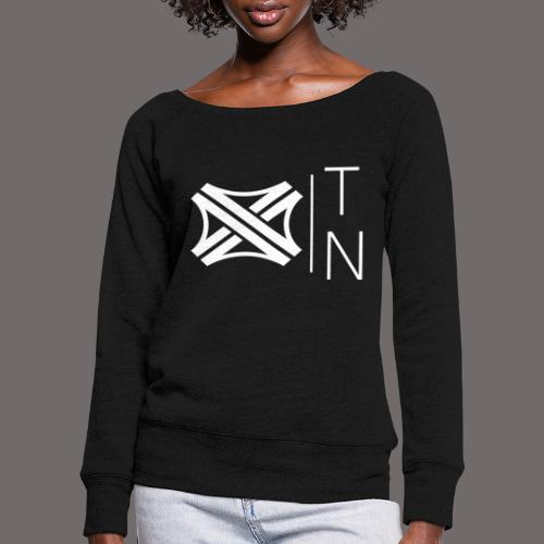 Tregion logo Small - Women's Boat Neck Long Sleeve Top