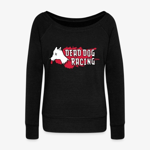 Dead dog racing logo - Women's Boat Neck Long Sleeve Top