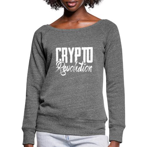 Crypto Revolution - Women's Boat Neck Long Sleeve Top