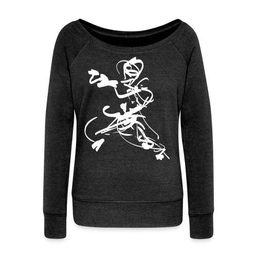 mantis style - Women's Boat Neck Long Sleeve Top