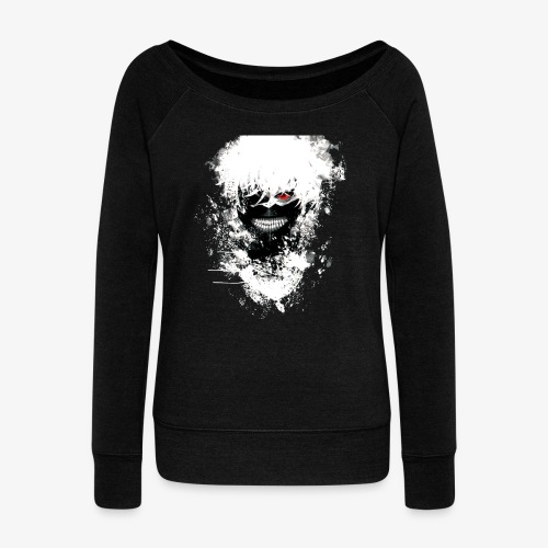 Kaneki Eye Patch - Women's Boat Neck Long Sleeve Top