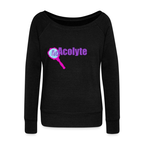 Acolyte dark - Women's Boat Neck Long Sleeve Top
