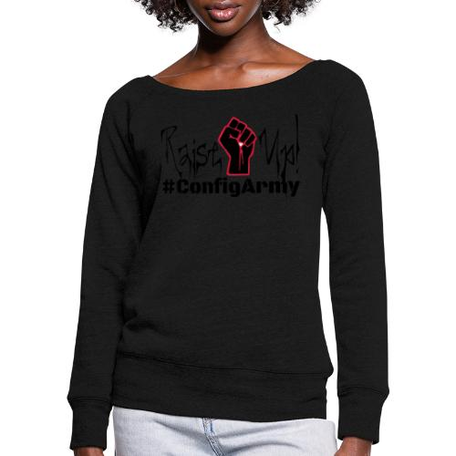 #ConfigArmy Raise Up! - Women's Boat Neck Long Sleeve Top