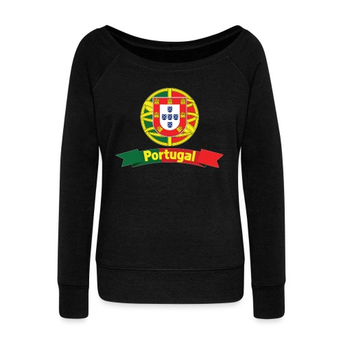 Portugal Campeão Europeu Camisolas de Futebol - Women's Boat Neck Long Sleeve Top