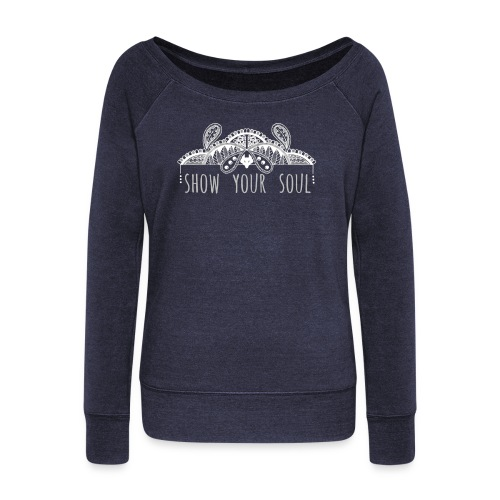 Show Your Soul - Women's Boat Neck Long Sleeve Top